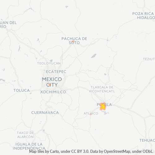 72440 Mapa de calor de densidad empresarial