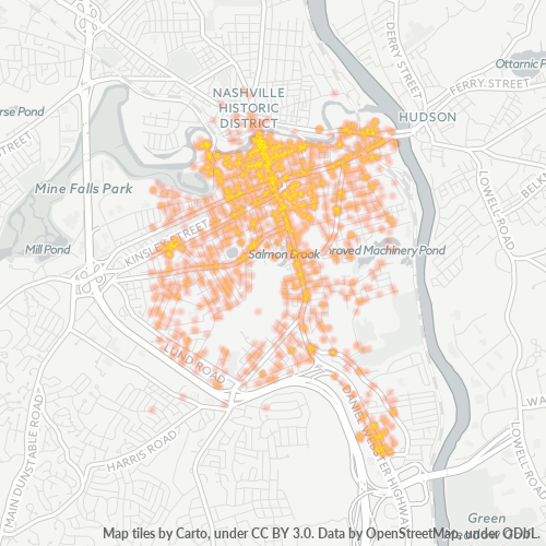 03060 Business Density Heatmap
