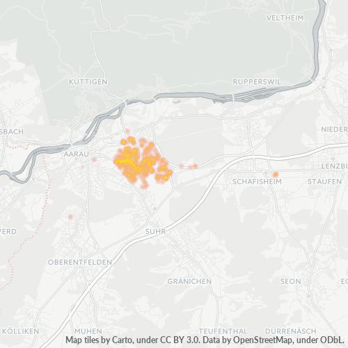 5033 Standortdichte-Heatmap