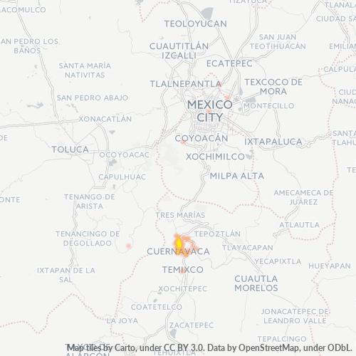 62170 Mapa de calor de densidad empresarial
