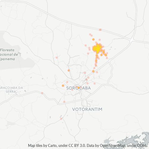 18103-000 Heatmap de Densidade da Empresa