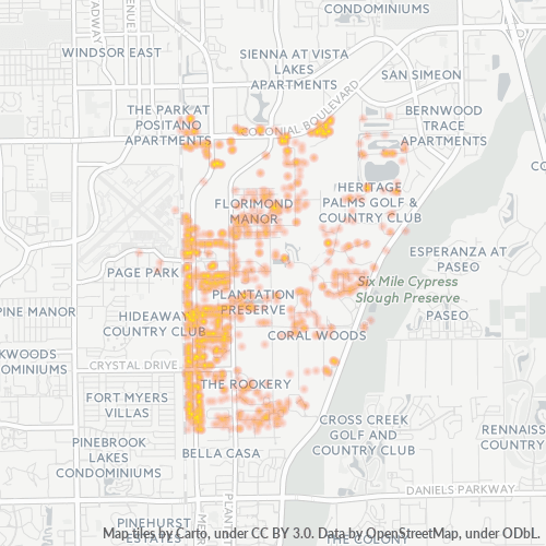 33966 Business Density Heatmap