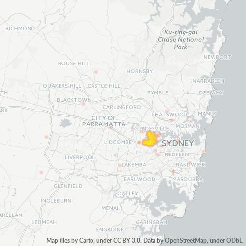 2046 Business Density Heatmap