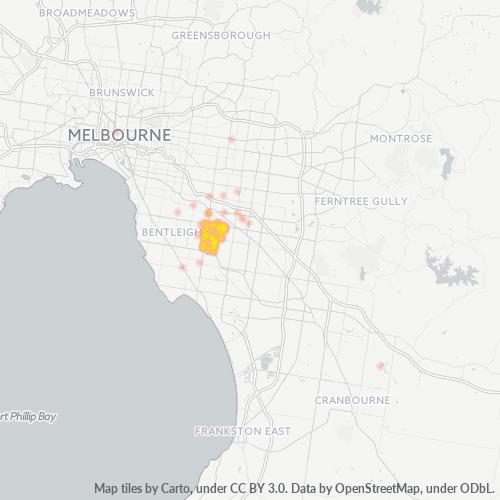 3167 Business Density Heatmap