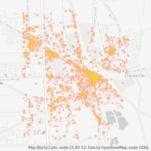 45373 Business Density Heatmap