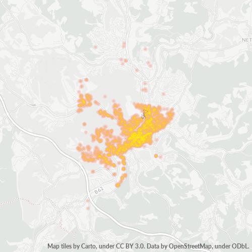 57072 Standortdichte-Heatmap