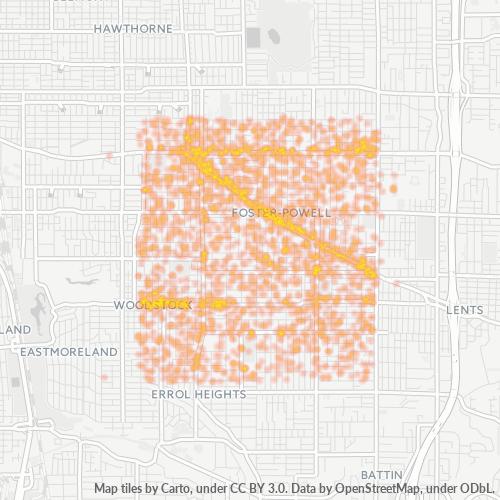 97206 Business Density Heatmap