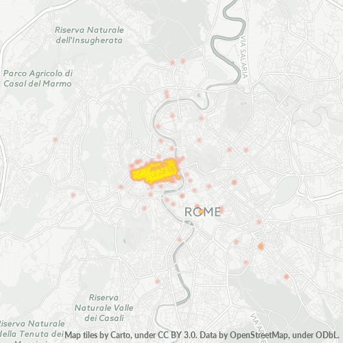 00192 Mappa di concentrazione per la densità di aziende