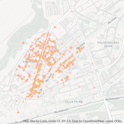 09005 Mapa de calor de densidad empresarial