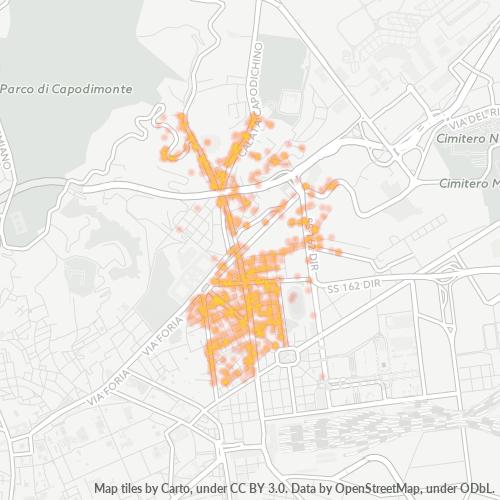 80141 Mappa di concentrazione per la densità di aziende