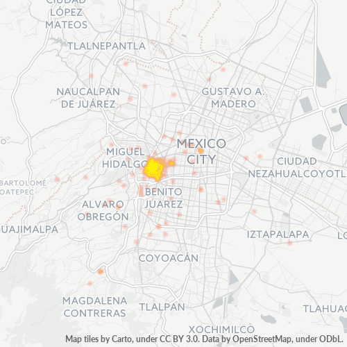 06140 Mapa de calor de densidad empresarial