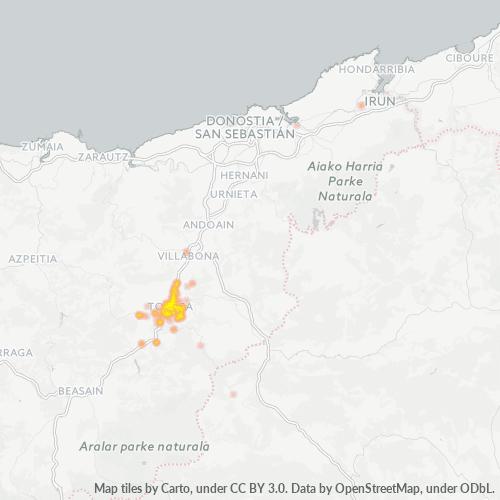 20400 Mapa de calor de densidad empresarial