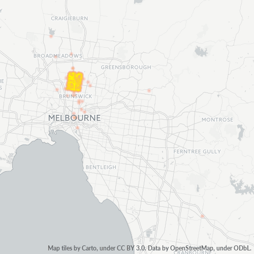 3058 Business Density Heatmap