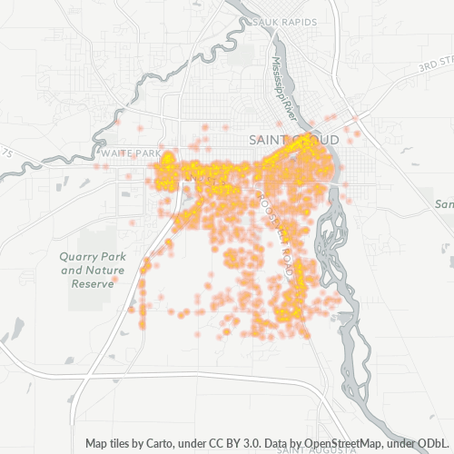 56301 Business Density Heatmap
