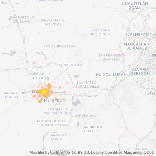 50090 Mapa de calor de densidad empresarial