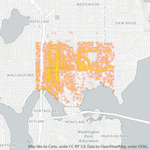 98105 Business Density Heatmap
