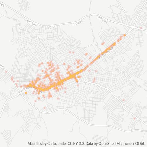 99025-000 Heatmap de Densidade da Empresa