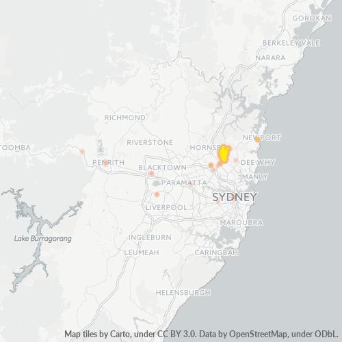 2075 Business Density Heatmap