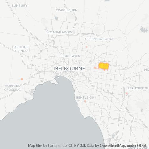 3129 Business Density Heatmap