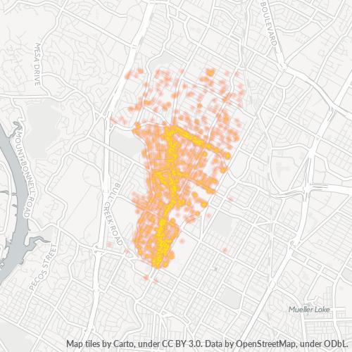 78756 Business Density Heatmap