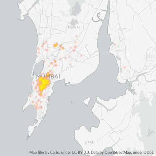 400012 Business Density Heatmap