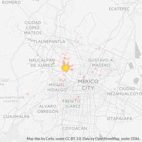 02080 Mapa de calor de densidad empresarial