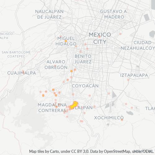 14260 Mapa de calor de densidad empresarial