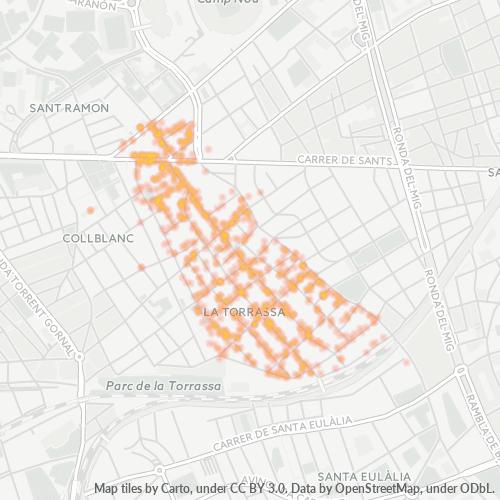 08903 Mapa de calor de densidad empresarial
