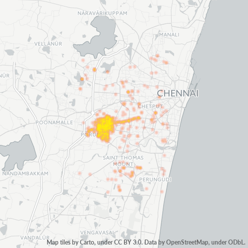 600087 Business Density Heatmap