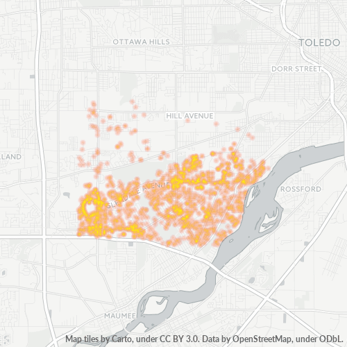 43614 Business Density Heatmap