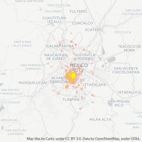 03020 Mapa de calor de densidad empresarial