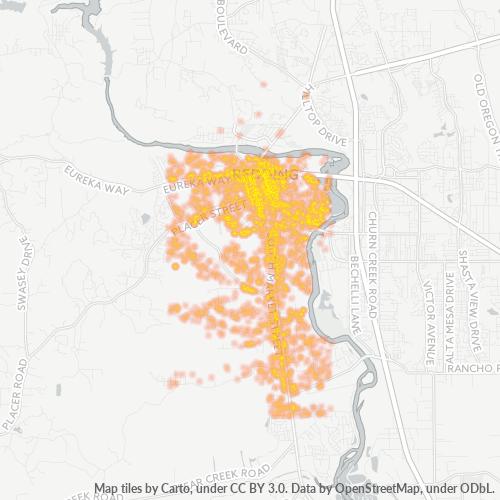 96001 Business Density Heatmap