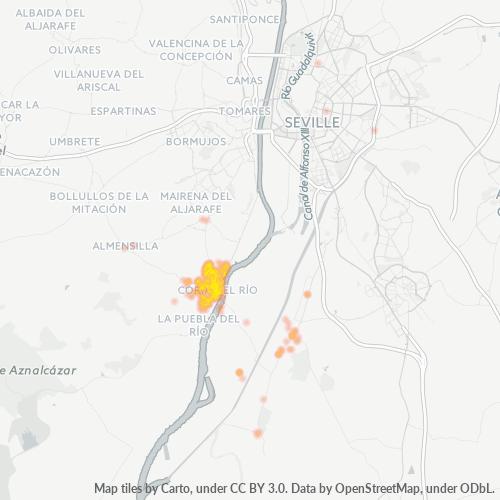 41100 Mapa de calor de densidad empresarial