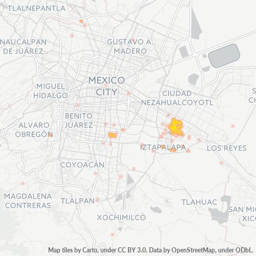 09230 Mapa de calor de densidad empresarial