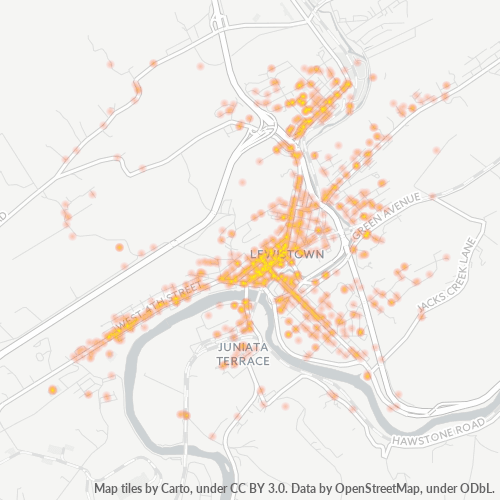 17044 Business Density Heatmap