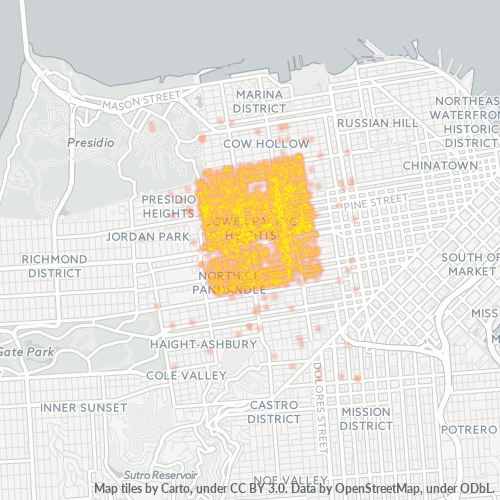 94115 Business Density Heatmap