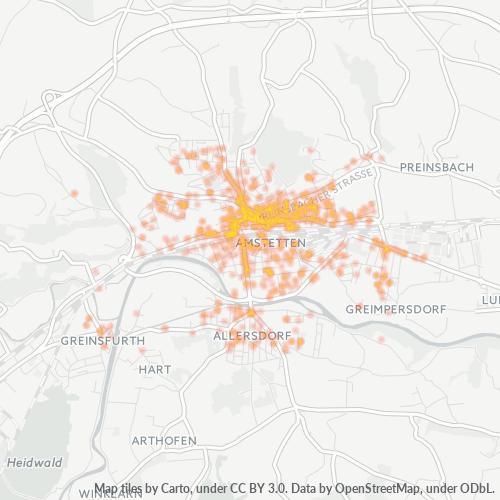 3300 Standortdichte-Heatmap