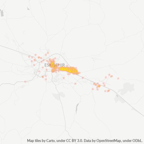 26100 Şirket Yoğunluğu Isı Haritası
