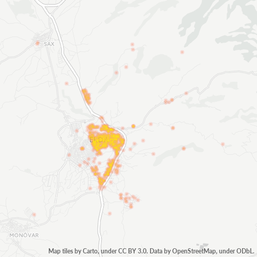 03610 Mapa de calor de densidad empresarial