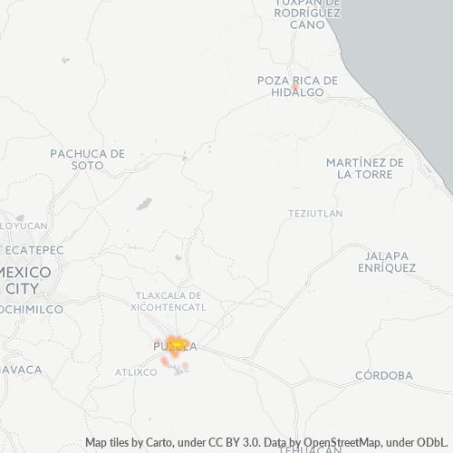 72260 Mapa de calor de densidad empresarial