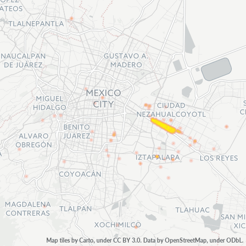 09100 Mapa de calor de densidad empresarial