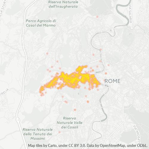 00165 Mappa di concentrazione per la densità di aziende