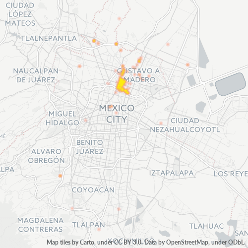 07840 Mapa de calor de densidad empresarial