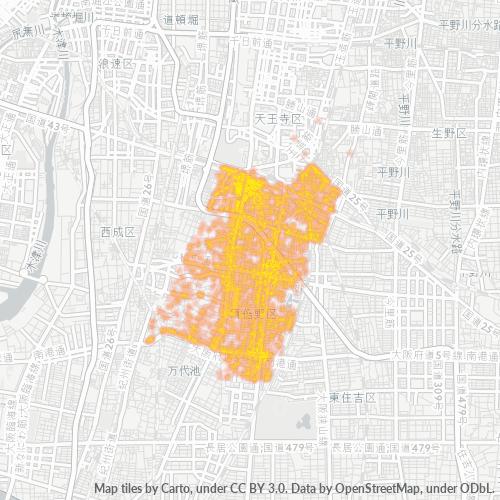 545 事業密度ヒートマップ