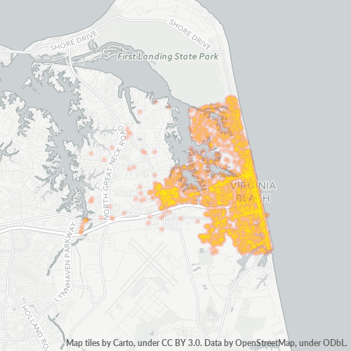 23451 Business Density Heatmap