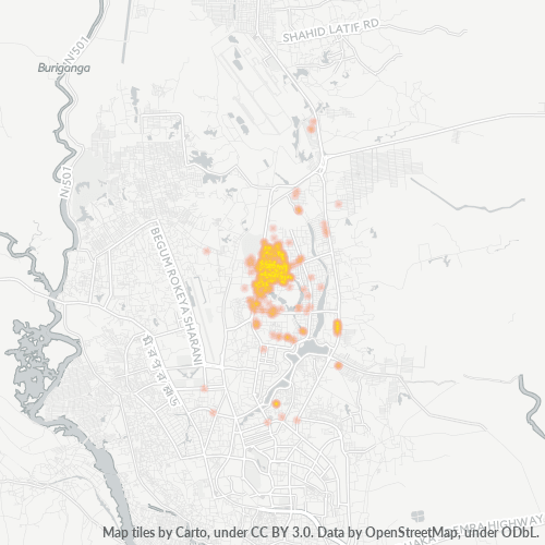 1213 Business Density Heatmap