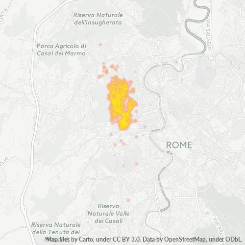 00136 Mappa di concentrazione per la densità di aziende
