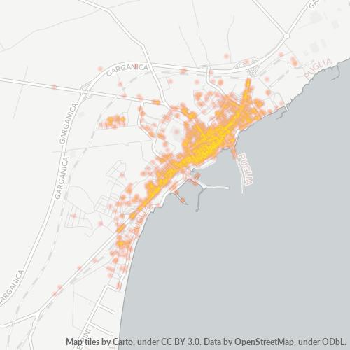 71043 Mappa di concentrazione per la densità di aziende