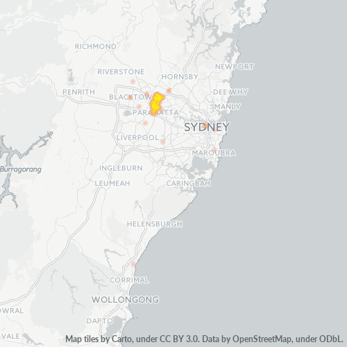 2151 Business Density Heatmap