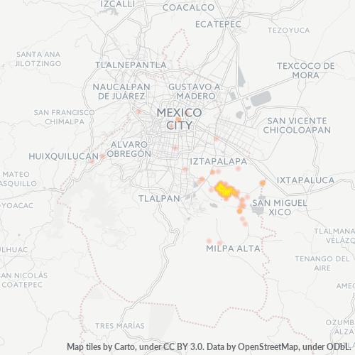13300 Mapa de calor de densidad empresarial
